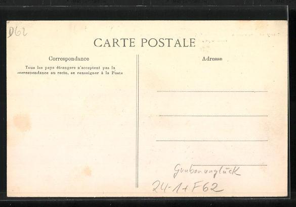 AK Courrières, Die Helden des Grubenunglücks von 1906 erhalten Auszeichnungen, Katastrophe 1