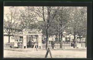 AK Wien, Wiener Prater, Restauration Haueisen Maierei, Eingangsbereich