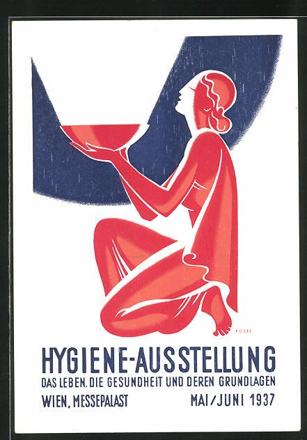 Künstler-AK Kosel: Wien, Hygiene-Ausstellung 1937, Messepalast 0
