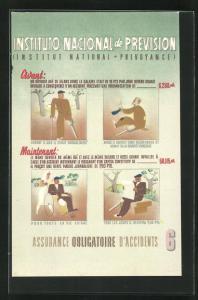 AK Instituto Nacional de Prevision, Unfallversicherung, Art Deco
