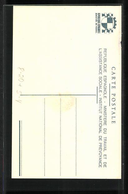 AK Instituto Nacional de Prevision, Unfallversicherung, Art Deco 1