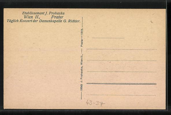 AK Wien, Etablissement J. Prohaska, Prater 1