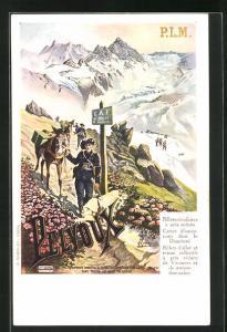 AK Pelvoux, Alpenjäger mit Pferden, Tourismus