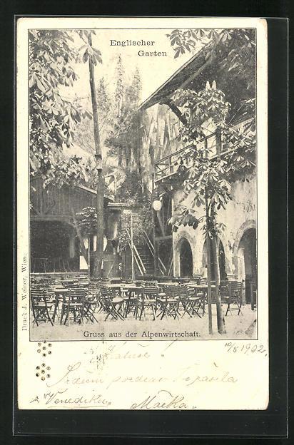 AK Wiener Prater, Alpenwirtschaft im Englischen Garten 0
