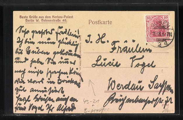 AK Berlin, Kerkau-Palast, Behrenstr. 48, Der kleine Stefan, der kleinste Original-Dirigent 1