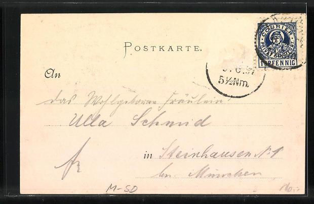 Lithographie München-Sendling, Gasthaus Sendlinger Weinbauer 1