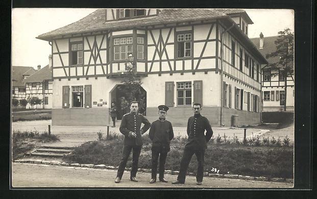 Foto-AK Grafenwöhr, Truppenübungsplatz, Geschäftszimmer-Baracke, 1914 0
