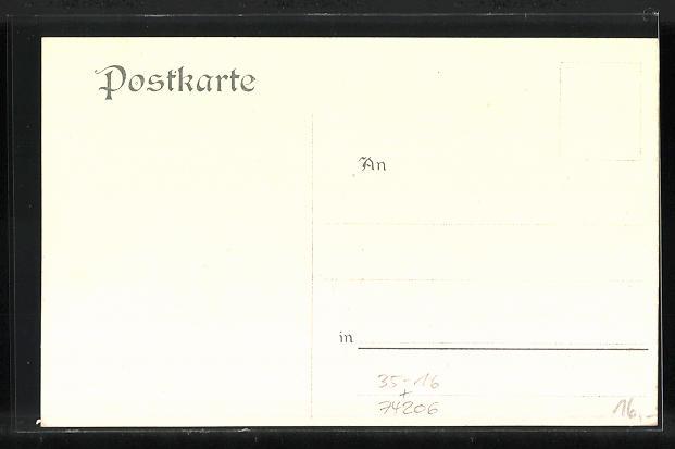 Künstler-AK C. Kempin: Wimpfen, histor. Darstellung und Tracht 1