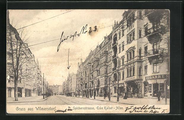 AK Berlin-Wilmersdorf, Spichernstrasse, Ecke Kaiser-Allee 0