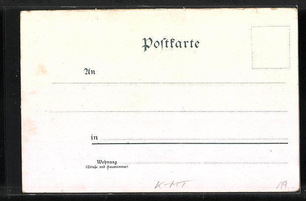 Lithographie Köln, Victoriasaal, diverse Ansichten 1
