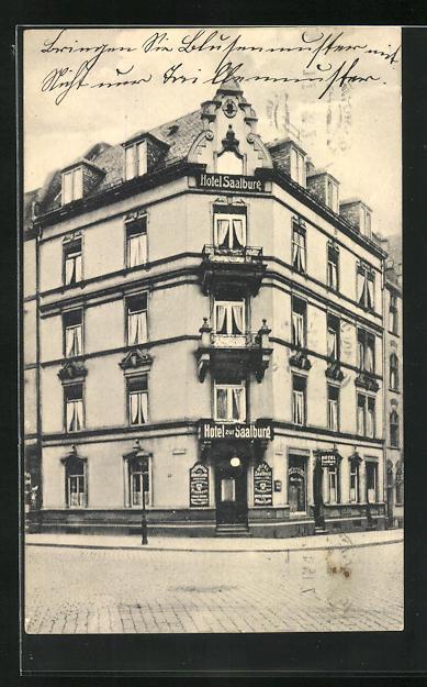 AK Frankfurt, Hotel Saalburg, Ottostrasse 13 Ecke Niddastrasse 0