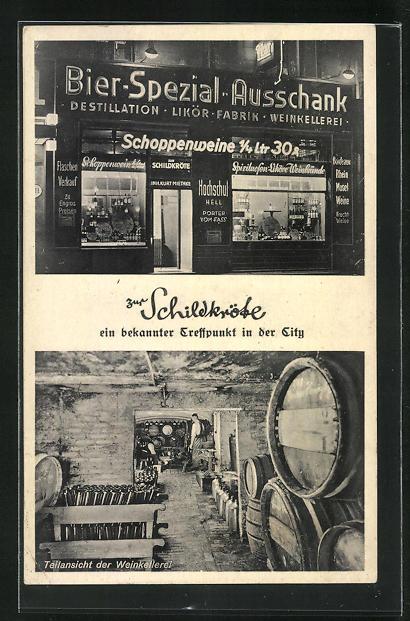 AK Berlin, Bier-Spezial-Ausschank zur Schildkröte, Dorotheenstr. 70, Weinkellerei 0