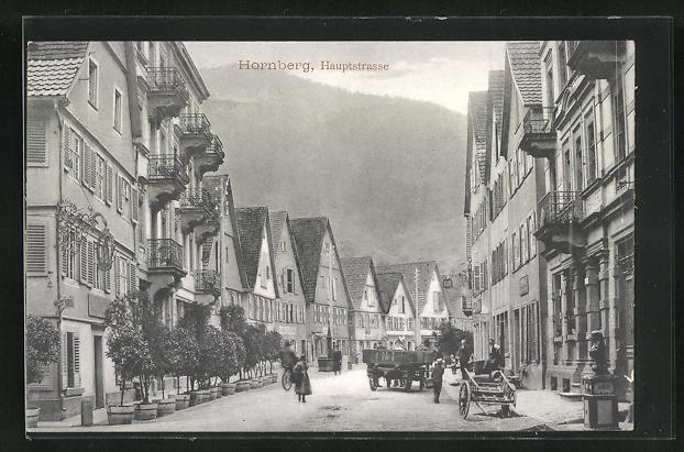 AK Hornberg, Blick in die Hauptstrasse 0