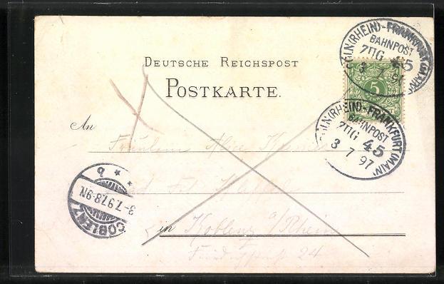 Lithographie Rhens, Hotel-Pension Königstuhl 1