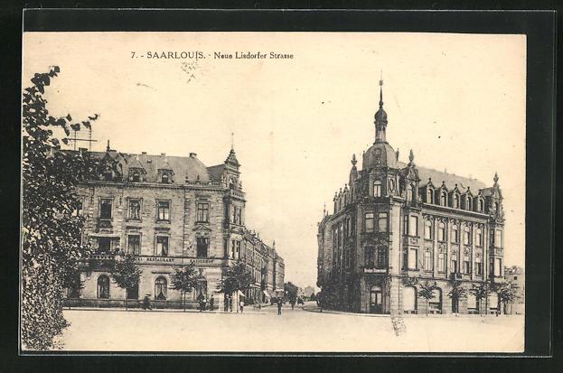 AK Saarlouis, Neue Lisdorfer Strasse mit Restaurant Kaiserhof 0