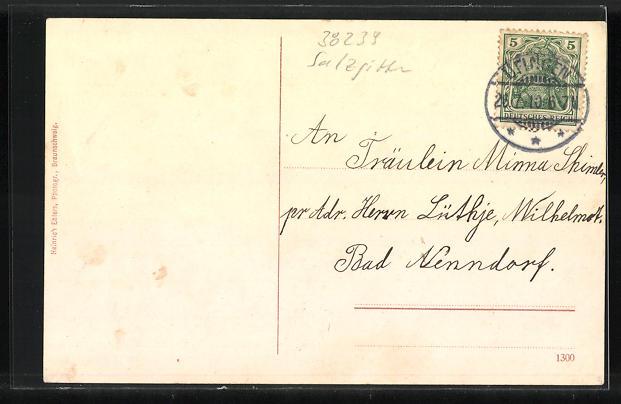 AK Bleckenstedt, Gasthof von Ludwig Sebbesse, Kirche, Dorfstrasse 1