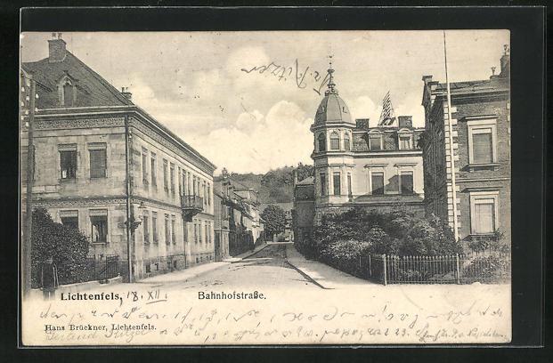 AK Lichtenfels, Blick in die Bahnhofstrasse 0
