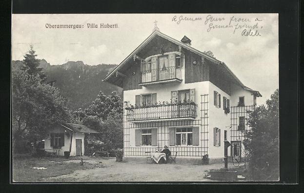 AK Oberammergau, Hotel-Pension Villa Huberti 0