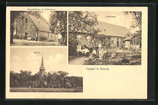 AK Cappel, Geschäftshaus C. Schlichting, Pfarrhaus 0
