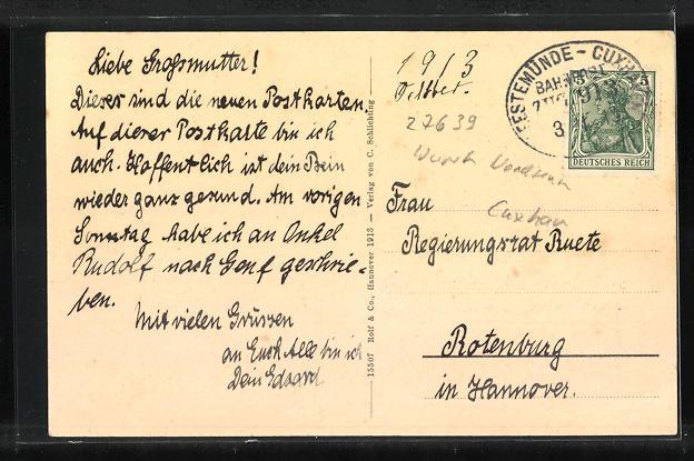 AK Cappel, Geschäftshaus C. Schlichting, Pfarrhaus 1