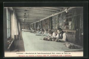 AK Aubusson, Manufacture de Tapis Brunschwig & Weil, Atelier de Tapis ras
