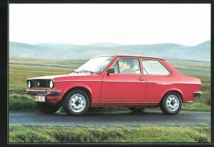 AK VW-Derby, de andere VW met de stijlvolle lijn, roter Volkswagen-Derby auf der Landtsrasse