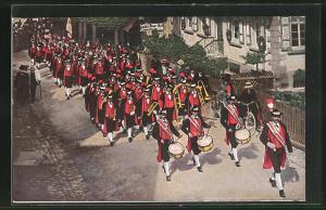 AK Bad Peterstal, Musikparade der Bürgermiliz in Schwarzwälder Tracht