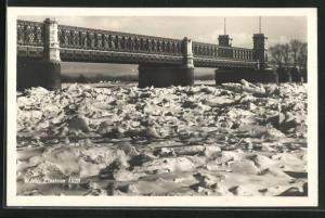 AK Wien, Eisstoss 1929, Brückenpartie