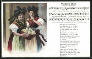 AK Vogtländer Madle, Mädchen mit Klössen, Liedtext und Noten