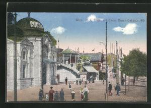 AK Wien, Wiener Prater, Circus Busch-Gebäude, Rutschbahn