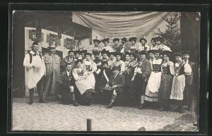 AK Trachtengruppe beim Foto, Zither, Judenstern