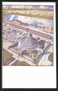 AK Wien, Wiener Prater, Blick auf die Rotunde