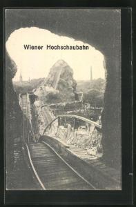 AK Wien, Wiener Prater, Teilstrecke der Hochschaubahn