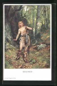 AK Nibelungen, Siegfried auf dem Weg zum Drachen