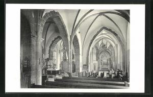 AK Butzbach / Hessen, Inneres der ev. Markuskirche