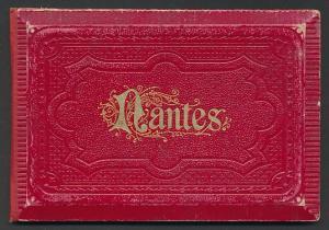 Leporello-Album Nantes, mit 15 Lithographie-Ansichten, La Place Royale, Le Grand Theatre, Palais de Justice