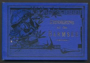 Leporello-Album Barmsee, mit 9 Lithographie-Ansichten, Hotel / Pension Barmsee, Karwendelgebirge, Panorama