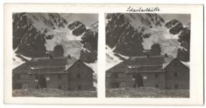 Stereo-Fotografie Fotograf unbekannt, Ansicht Sulden, Schaubachhütte