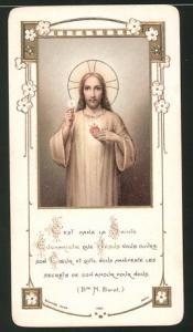 Heiligenbild Jesus, Bibelvers, Rückseitig datiert 1911