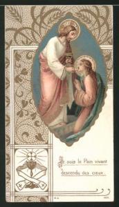 Heiligenbild Jesus erteilt die Kommunion