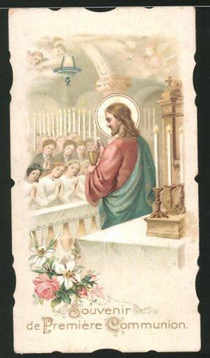 Heiligenbild Jesus und Gläubige im Gebet 0