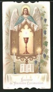Heiligenbild Engel und Heiliger Gral