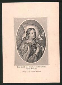 Heiligenbild Hl. Maria, Der Engel des Herrn brachte Maria die Botschaft