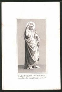 Heiligenbild Hl. Lukas, Psalm, Bibelvers