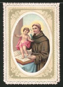 Heiligenbild Heiliger Mönch & Jesuskind