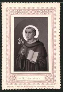 Heiligenbild S. Dominicus, Mönch mit Bibel