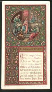 Heiligenbild St. Maria hilft den Schwachen und Blinden, Bibelvers