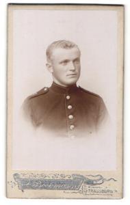 Fotografie Andre Bockmann, Strassburg, Portrait Soldat in Uniform