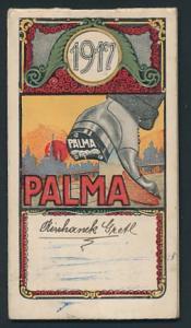 Kalender 1917, Palma-Schuhabsätze, mit Namenstagen & Seiten für Notizen