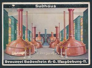 Kalender 1940, mit Wetterkalender, Brauerei Bodenstein AG Magdeburg, Braukessel im Sudhaus